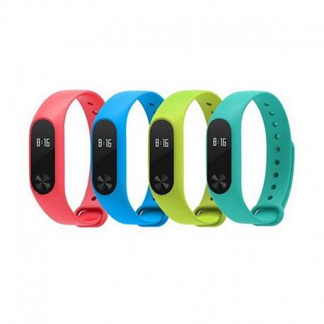 Цветной силиконовый ремешок для фитнес-браслета Xiaomi Mi Band 2
