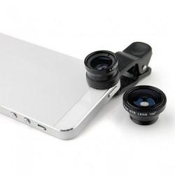 Объектив универсальный LEIQI 3-в-1 для телефонов и планшетов